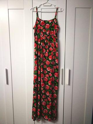 (Free postage) Floral maxi dress