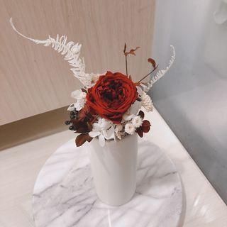 乾燥花 永生花 盆花 禮物 擺飾 生日禮物 玫瑰