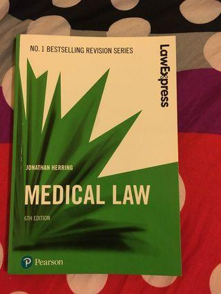 Medical Law (Law Express Revision)