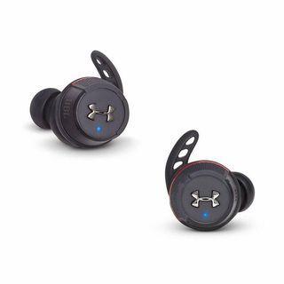 JBL UA FLASH真無線藍牙運動耳機入耳式防水防汗運動耳塞金屬充電盒便攜跑步健身耳機UA小黑盒