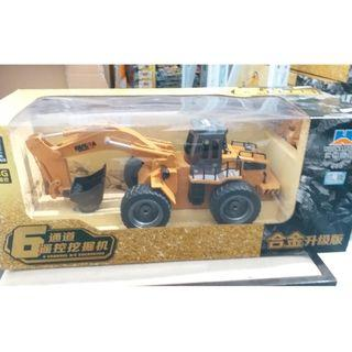 HUINA TOYS 1530 1/18 6CH Alloy RC Excavator Truck Car with Light Lifting Arm