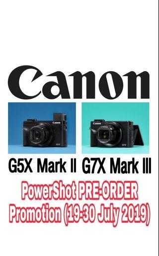 Canon PowerShot PRE-ORDER Promotion (19-30 July 2019)