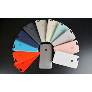 Genuine Original Silicone Cover with Logo For Apple iPhone 6, 6s, 6 Plus and 6s Plus