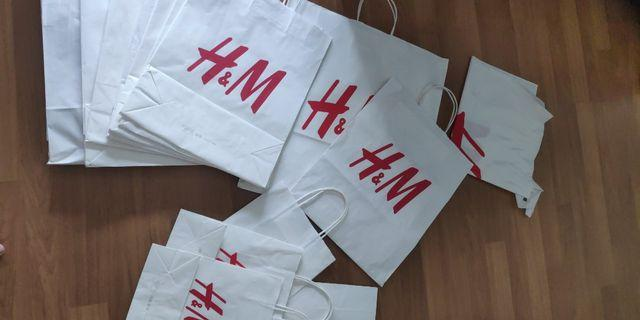 H&M or any other BRANDED PAPER BAGS!