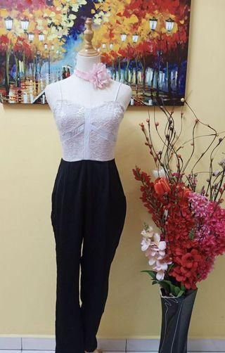 Jumpsuit black & white
