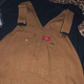 含運 Dickies 吊帶褲 帆布 牛仔 工裝 工作服 工作褲