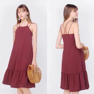 Fayth Gemma Dropwaist Dress - Mulberry (S)