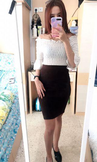 Skirt / Rok Kerja Coklat
