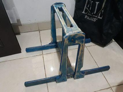 Baby walker kayu biru handmade