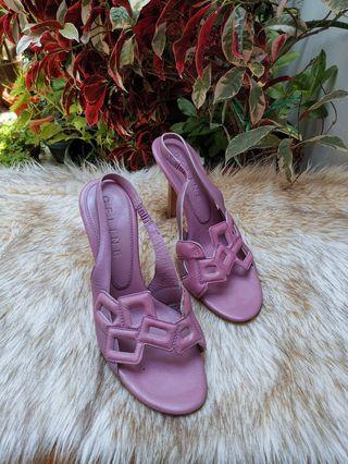 Authentic Celine Purple Lilac Color Leather Slingback Pumps Size 36