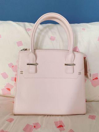 Baby pink Charles and Keith handbag