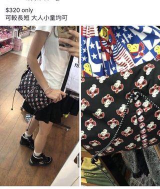 Hysteric mini 黑超b 遊行袋 斜揹bag 防水料
