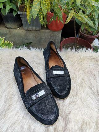 Authentic Coach Black Suede Leather Ladies Loafers Size 7