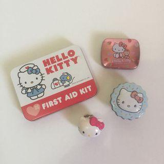 d0cbbe858 SET OF 4 ORIG Sanrio Hello Kitty First Aid Kit Candy Tins Keychain