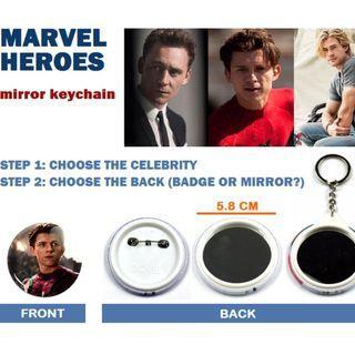 Tom Holland Marvel Spider Man Mirror Keychain 蜘蛛俠鏡匙扣 Disney