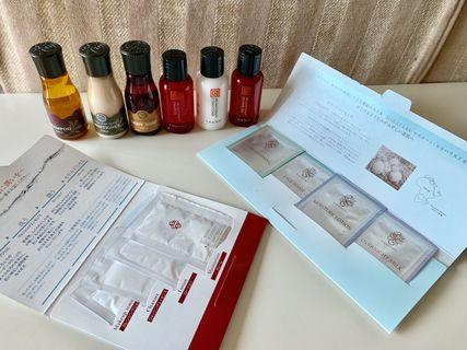 Pola and Thann body and facial cleaner travel set