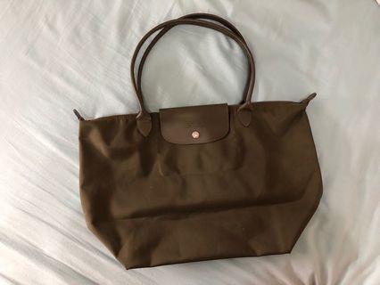 Longchamp 包包 長把 墨綠色
