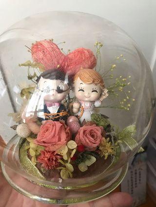 結婚公仔 乾花擺設