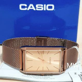 Genuine rose gold Casio Women's Stainless Steel Watch  LTP-E156MR-9A