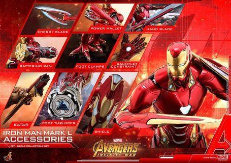 Hottoys acs004 iron man mk50 avengers End game mark L accessories set rerun 19/5 vip 訂單