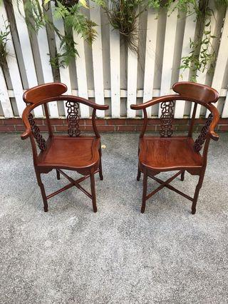 Rosewood chairs 1pair