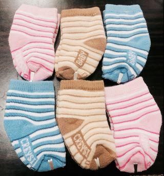 🚚 棉質嬰兒襪6入