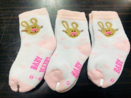 🚚 棉質動物嬰兒襪3入