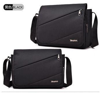 【Q夫妻】Sling Bag 簡約 大容量 帆布包 斜背包 斜跨包 單肩包 黑色  #B0015-3