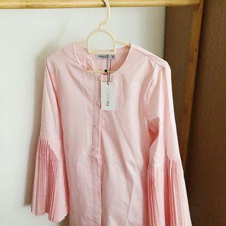 FV BN w/tag Serena Pleated Blouse in Pink