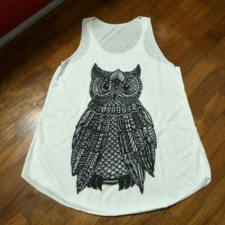 🌸 FREE with any purchase 🌸 owl muscle tank