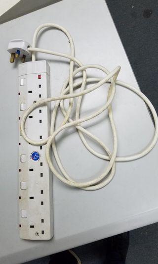 電線拖板插蘇 extension cord 290cm 電線