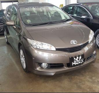Toyota Wish Deluxe For Rent
