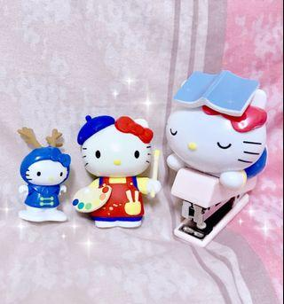 Hello Kitty 釘書機+ Kitty畫家公仔+ Kitty冬季馴鹿公仔(3個一組)