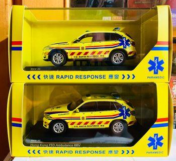 全新Tiny/Paragon 1/43 BMW X5 RRV 救護車系列