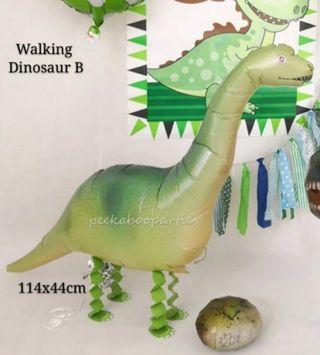 Walking dinosaur. Walking pet balloon