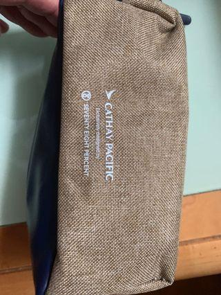 Cathay Pacific Business Class overnight/ amenity skincare bag