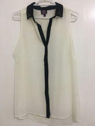 White Studded sheer top #SwapAU