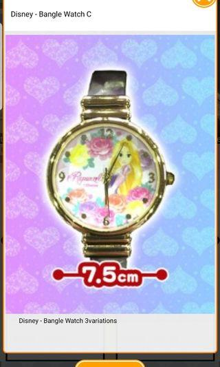 (Instock) Disney - Bangle Watch C Rapunzel