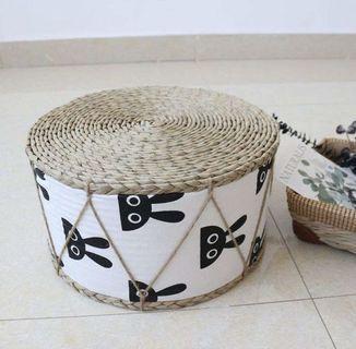 🚚 ✔️(in stock) Handmade Nordic design seagrass stools
