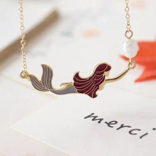 Maybee 飾品  頸鏈 美人魚 珍珠 短款 海洋頸鏈 鎖骨鏈