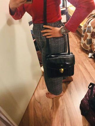 Black glossy bag
