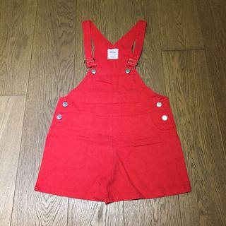 Red Dungaree Shorts 紅色工人短褲
