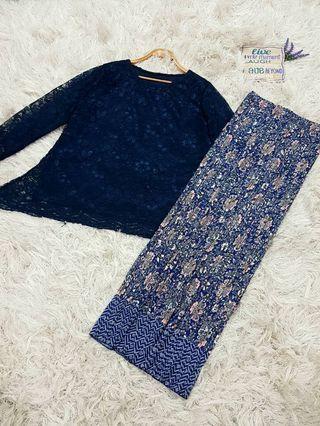 Set Lace baju dan kain