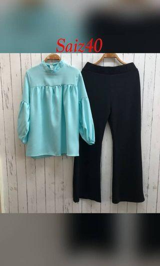 Set blouse dan palazzo