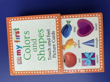 🚚 DK colours and shapes touch n feel picture flash cards