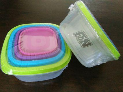 NEW & Sealed 4pc F&N plastic containers (2sets)