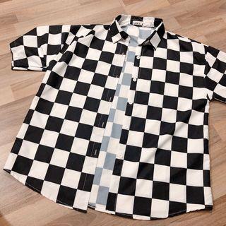 🚚 Checkered Button Down Outwear Top