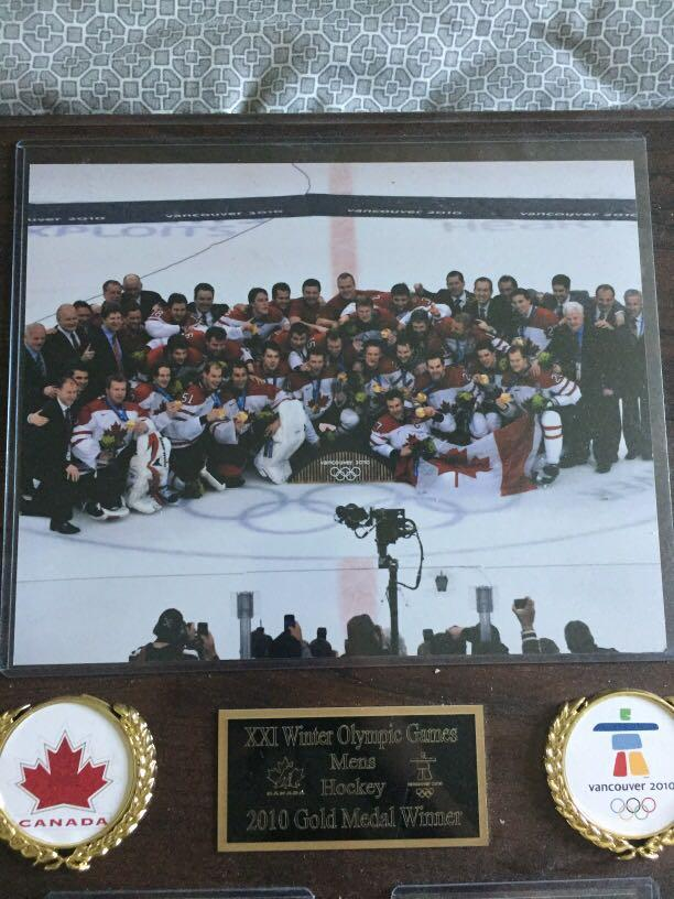 2010 Winter Olympics Men's Hockey Commemorative Plaque
