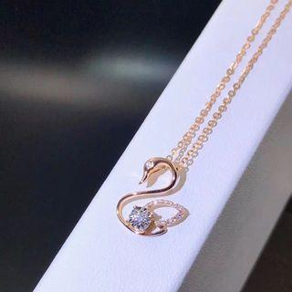 🚚 Real 18K gold ➕Real 💎 demands necklace