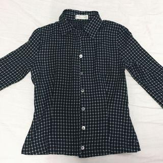 Checkered Buttoned Top